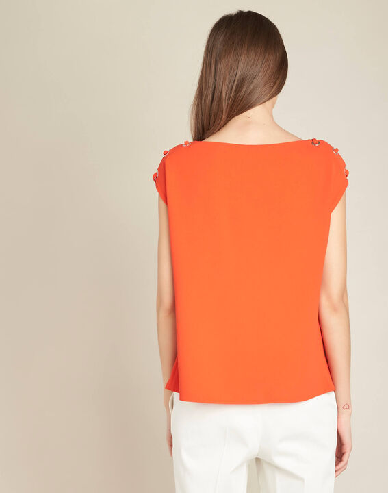 Germina orange blouse with eyelets and laces (4) - 1-2-3