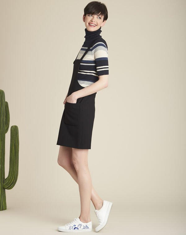 Axelle black skirt with pockets and braces (1) - 1-2-3
