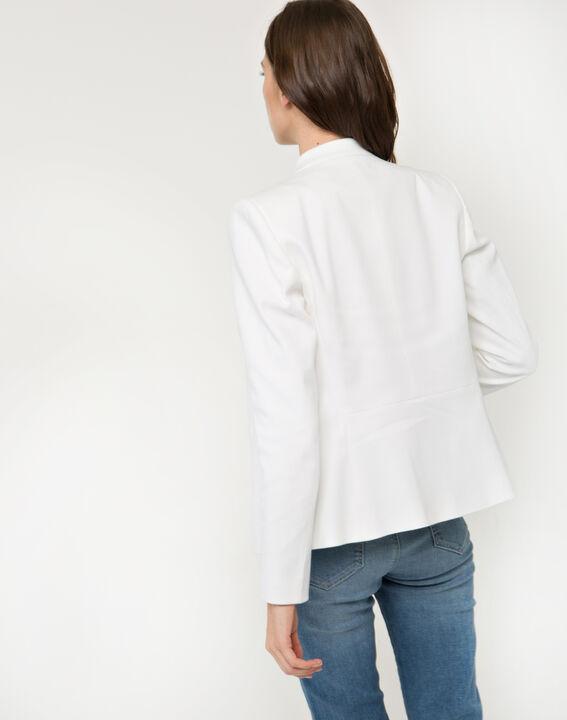 Veste blanche piquée Bea (5) - 1-2-3