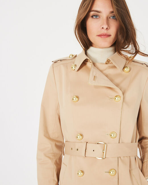 Julie mid-length beige trench coat (1) - 1-2-3