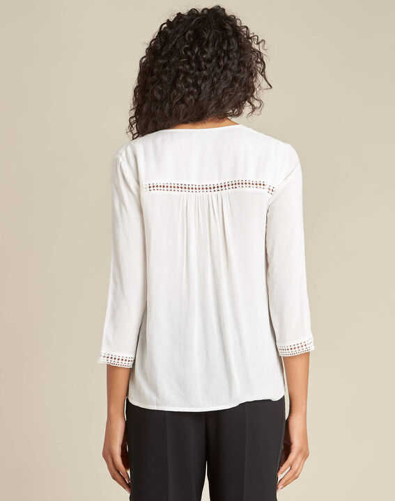 Graziella white blouse with guipure detailing (4) - 1-2-3