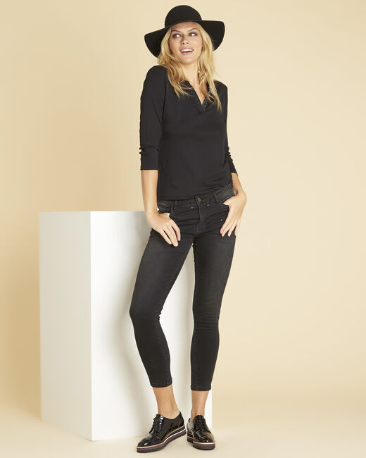 Vendôme dark grey jeans with studded detailing (2) - 1-2-3