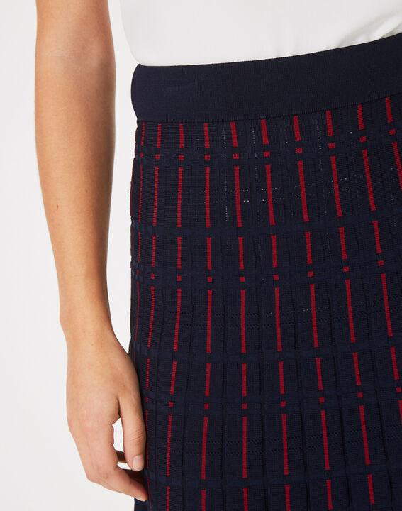 Fado navy blue knit dance skirt (4) - 1-2-3
