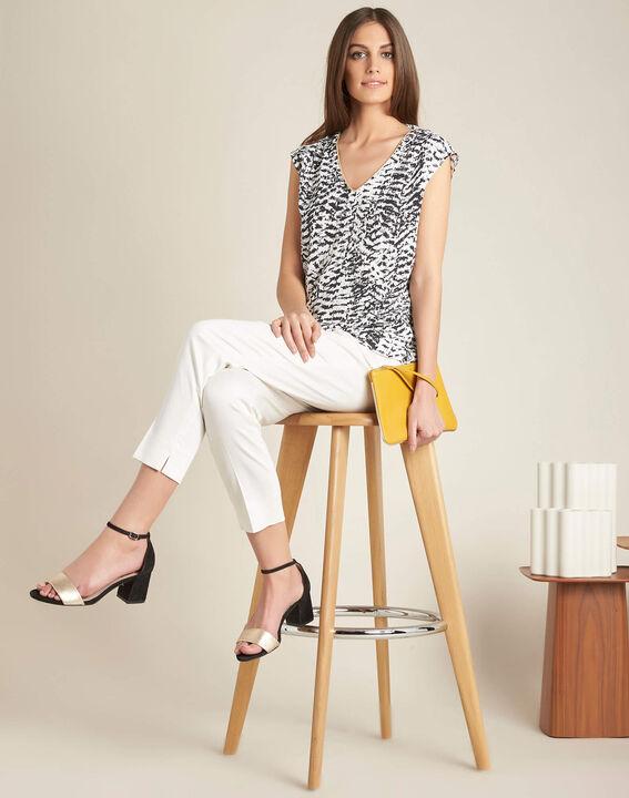 Rubis ⅞-length ecru trousers (2) - 1-2-3