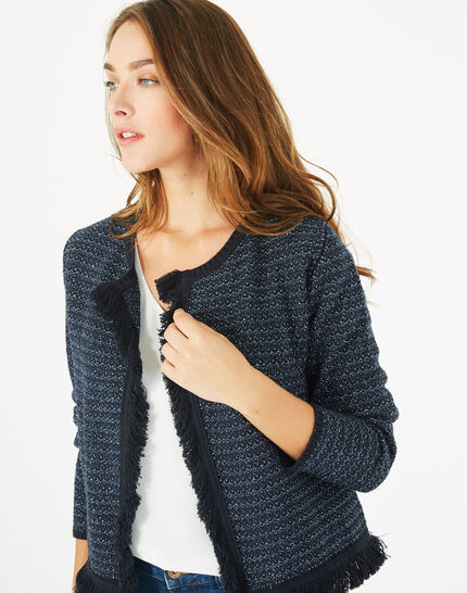 Petronille knit ink blue jacket (2) - 1-2-3