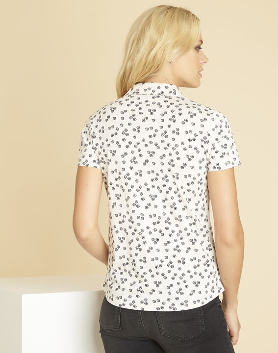 Wit T-shirt met print Laura (4) - 37653