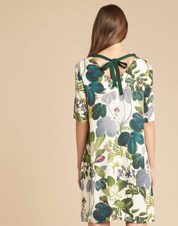 Perline forest green dress with print (4) - 1-2-3