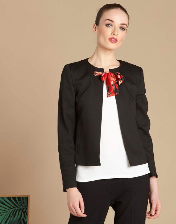 Calice short black jacket with ribbon tie (3) - 1-2-3
