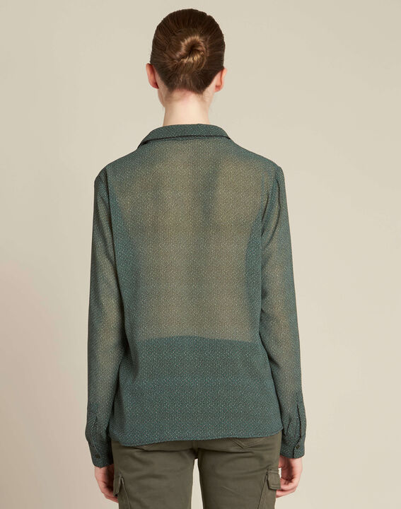 Davis circle print khaki shirt (4) - 1-2-3