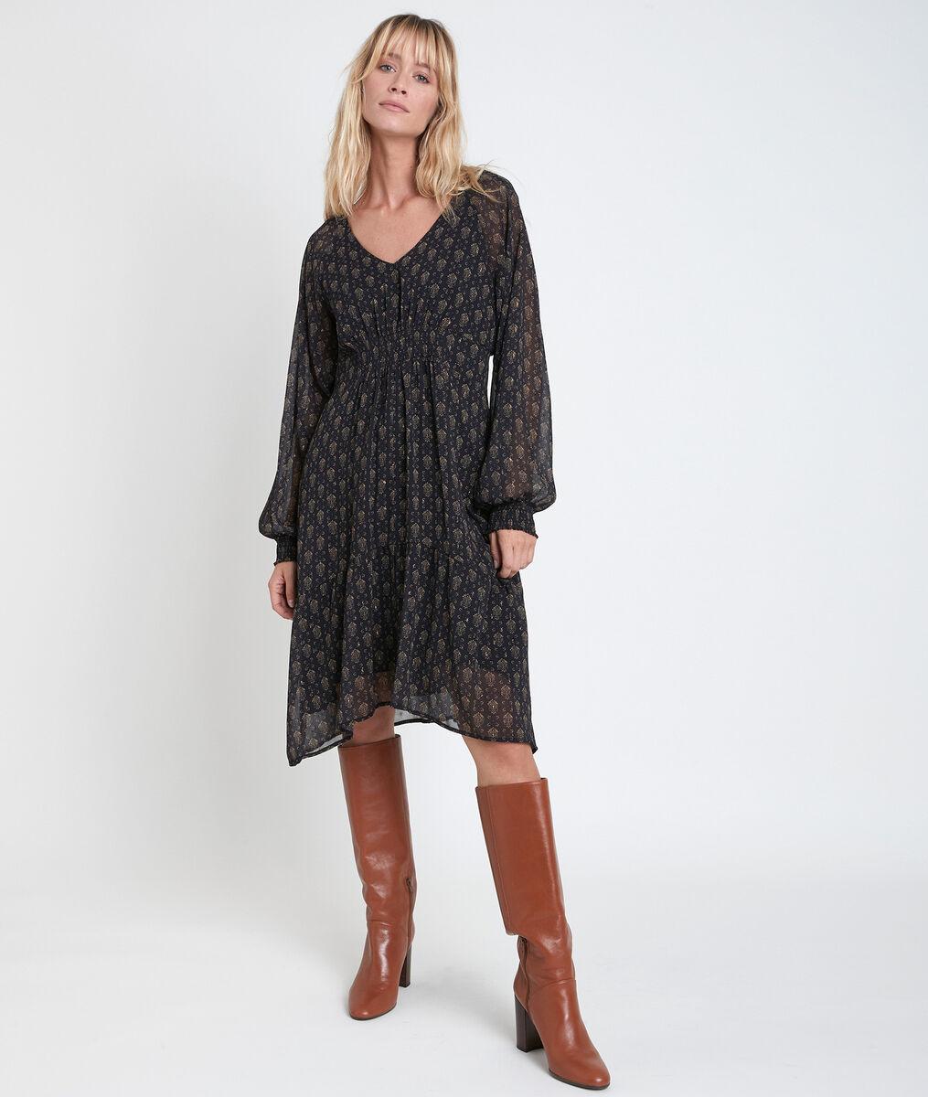 Robe imprimée asymétrique Ninon PhotoZ   1-2-3
