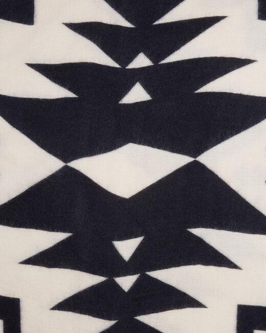 Echarpe blanc et noir imprimée Edison (2) - 1-2-3