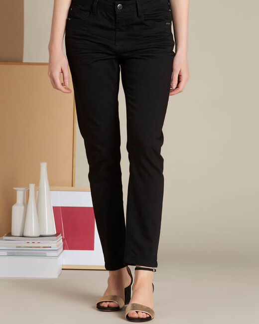 Schwarze 7/8-Slim-Fit-Jeans Vendome (2) - 1-2-3