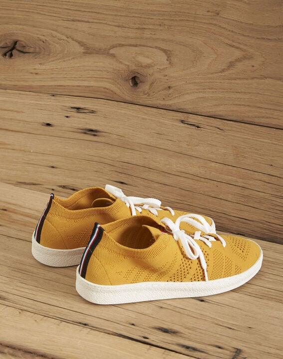 Baskets tricotées jaune Ector PhotoZ | 1-2-3