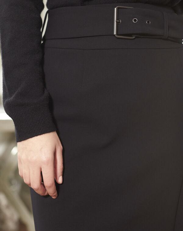 Stiftrock in Schwarz mit Gürtel Flocon (2) - 1-2-3