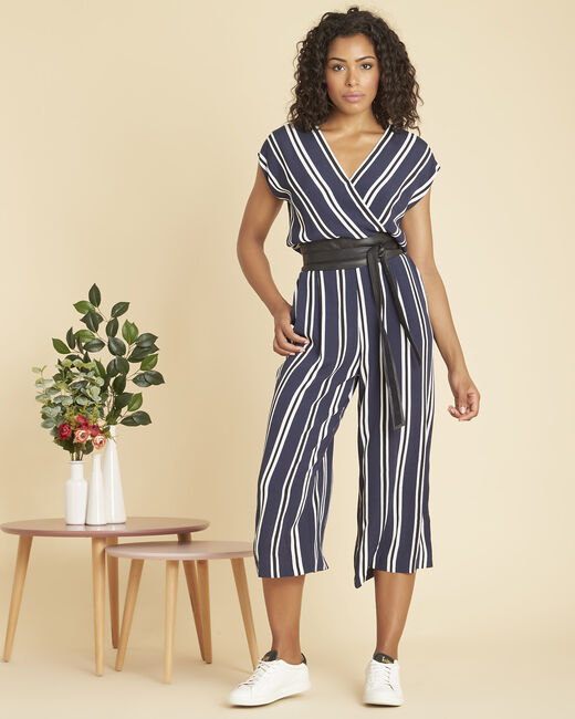 Prune navy striped jumpsuit (1) - 1-2-3