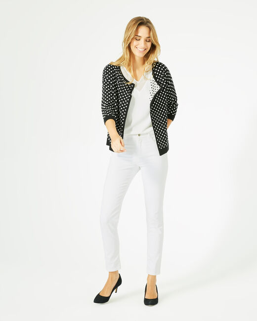 Parade black and white knitted jacket with polka dots (1) - 1-2-3