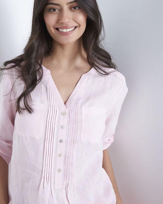 Roma pink linen shirt (2) - 1-2-3