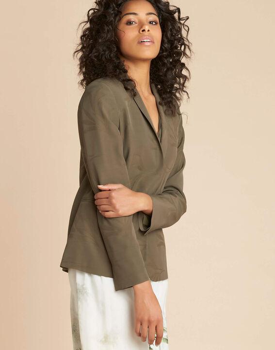 Demoiselle jacquard effect khaki jacket (3) - 1-2-3
