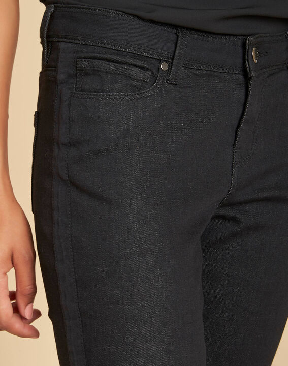 Schwarze 7/8-Slim-Fit-Jeans Turenne (1) - 1-2-3