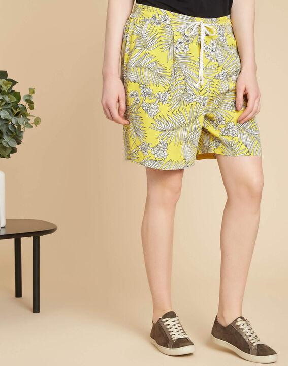 Salma yellow printed shorts (3) - 1-2-3