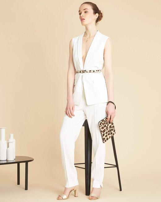Pantalon blanc cigarette Lara (1) - 1-2-3