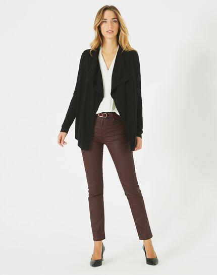 Primevère black cashmere waterfall cardigan (1) - 1-2-3
