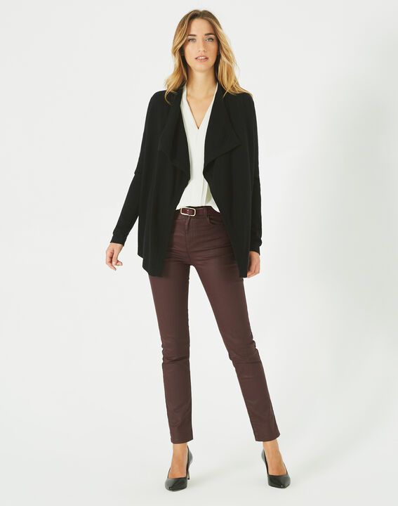 Primevère black cashmere waterfall cardigan PhotoZ | 1-2-3