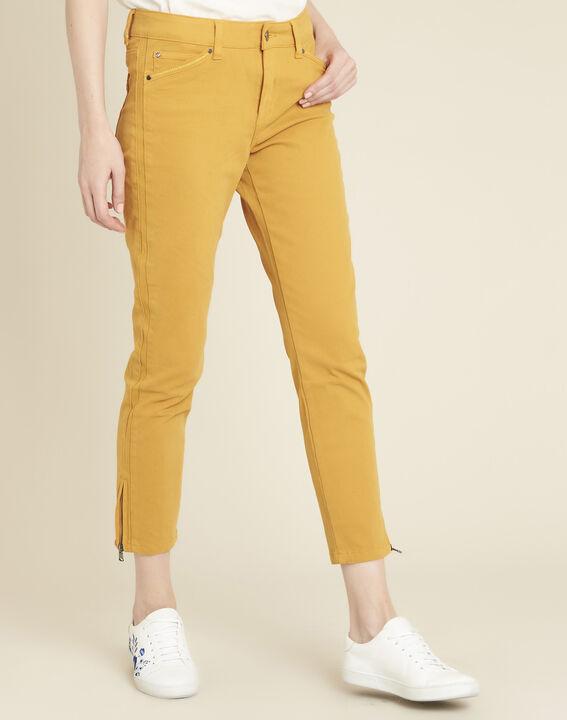 Gelbe 7/8 Slim-Fit-Jeans aus Baumwollsatin Vendome PhotoZ | 1-2-3