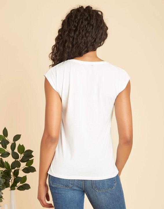 Ecrufarbenes T-Shirt mit Siebdruck Ebloui (3) - 1-2-3
