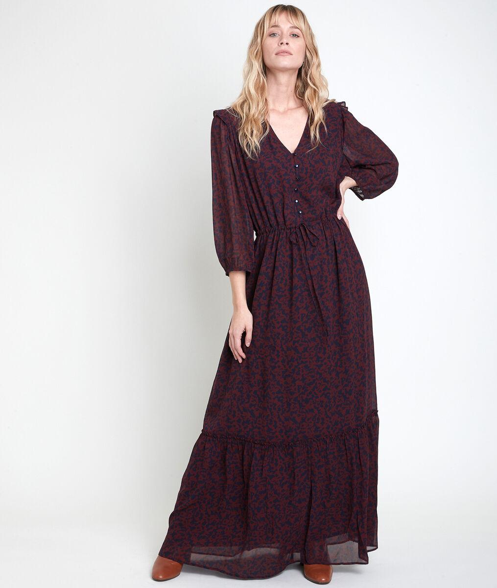 Robe longue imprimé fleuri Claire PhotoZ | 1-2-3
