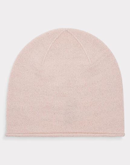 Puderfarbene glänzende Kaschmir-Mütze Tilleul bis (1) - 1-2-3