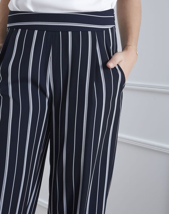 Pantalon marine rayé Greta (3) - Maison 123