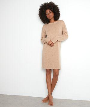 Robe pull beige en laine Tabata