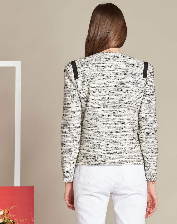 Tweed-Jacke mit Ripsband-Details Clelia (4) - 1-2-3
