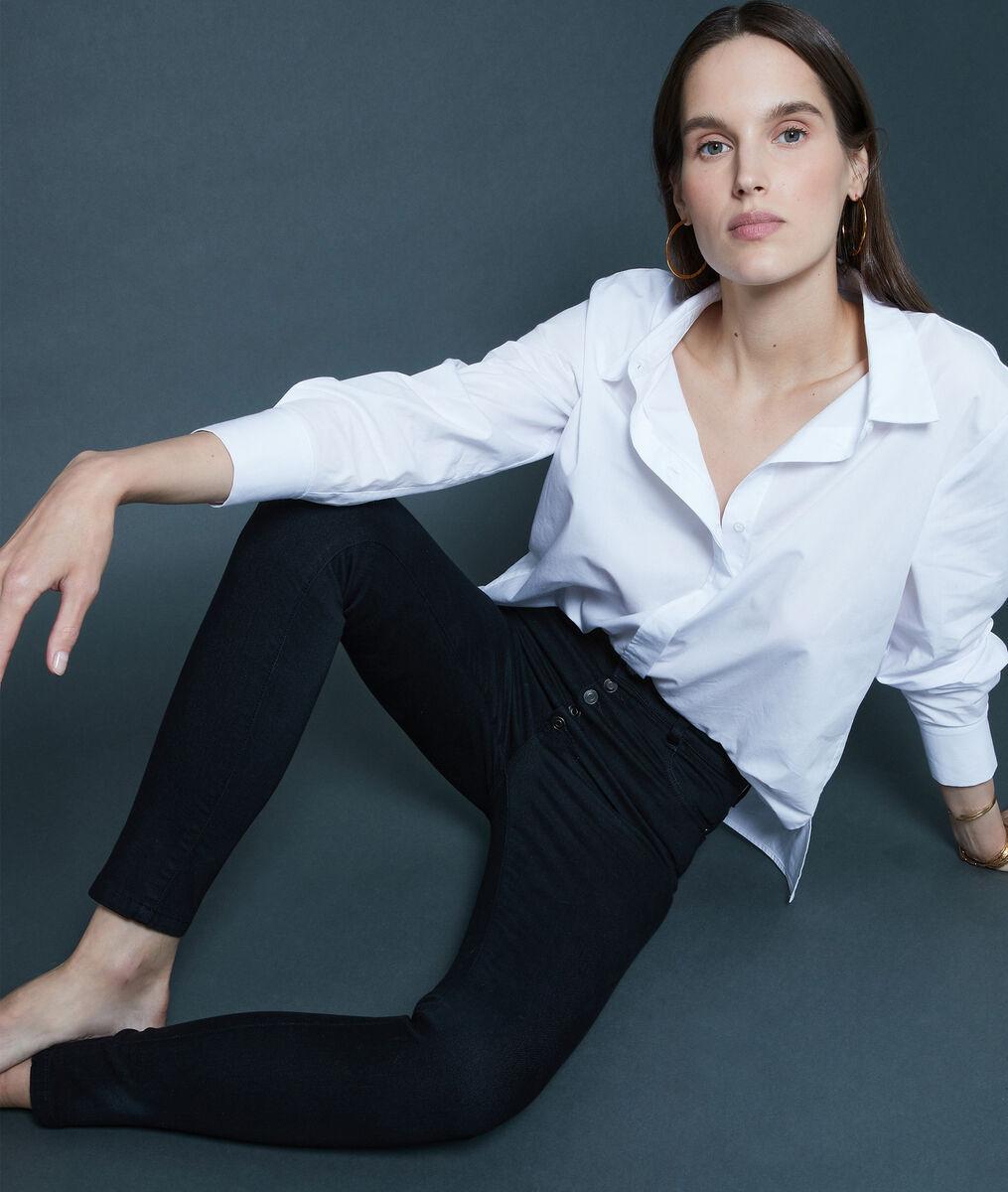 Zwarte slim-fit jeans van biologisch en gerecycleerd katoen Nara PhotoZ | 1-2-3