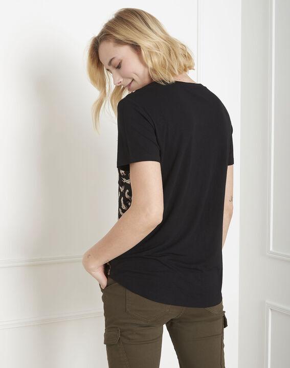 Tee-shirt noir panthère Peluche (4) - Maison 123