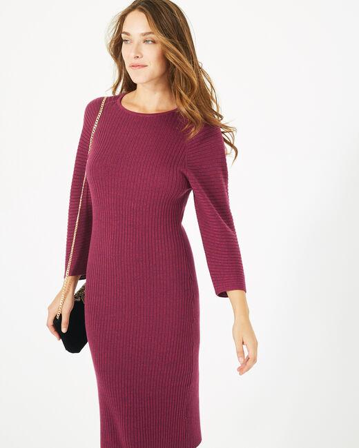 Cassisfarbenes Kleid aus Woll-Mix Altesse (2) - 1-2-3