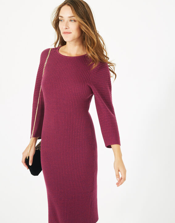 Robe cassis en laine mélangée Altesse (1) - 1-2-3