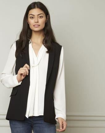 Cool sleeveless black microfibre jacket black.
