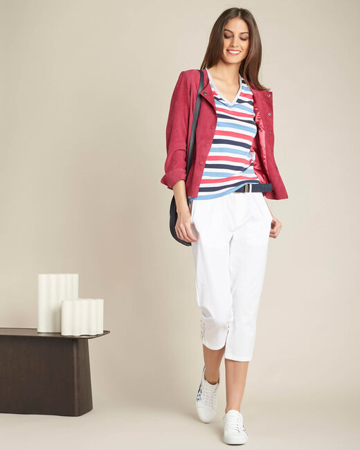 Marineblaues Streifen-T-Shirt Embruns (2) - 1-2-3