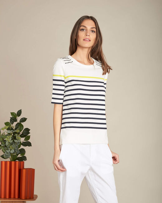 Easy striped navy sweater with studded detailing (2) - 1-2-3