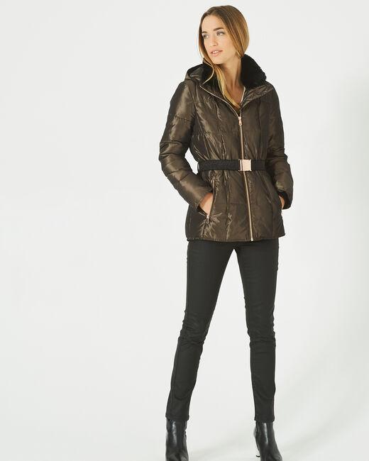 Livia bis mid-length khaki puffer jacket (2) - 1-2-3