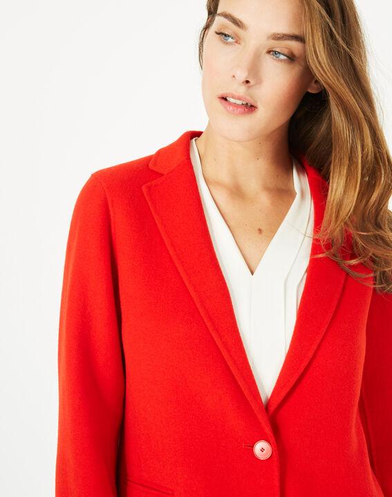 Manteau mi-long rouge en laine mélangée Jack (5) - 1-2-3