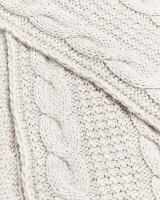 Echarpe écrue point fantaisie laine Frederica (2) - 1-2-3