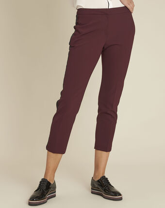Suzanne bordeaux trousers with a microfibre sideband bordeaux.