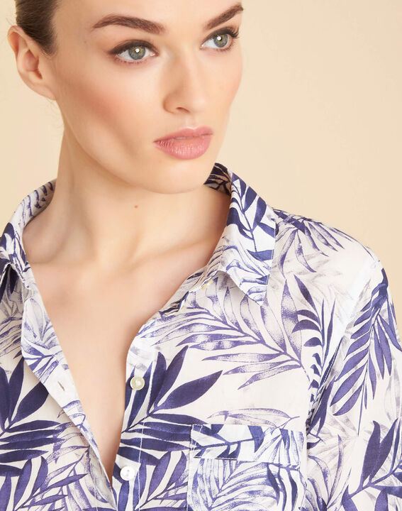 Ravel blue palm printed shirt in cotton PhotoZ | 1-2-3