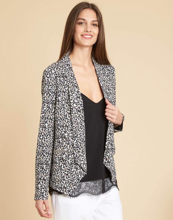 Veste tailleur imprimé léopard Carambole (2) - 1-2-3
