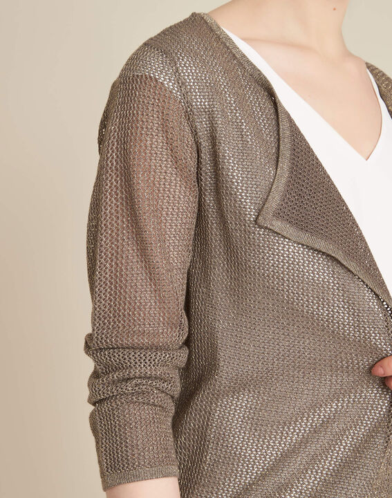Noisette fine-knit khaki cardigan PhotoZ | 1-2-3