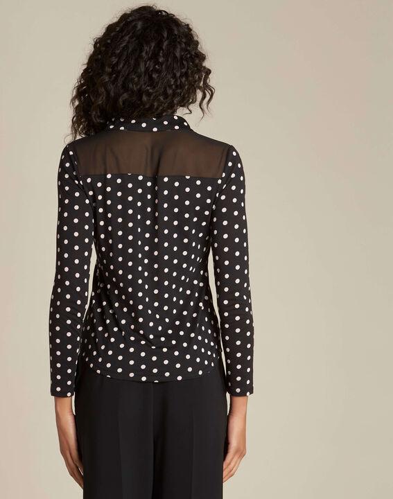 T-shirt noir à pois Laura (4) - 1-2-3