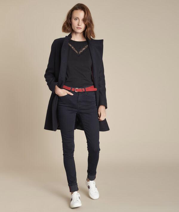 De iconische, blauzwarte slim-fit Suzy PhotoZ | 1-2-3